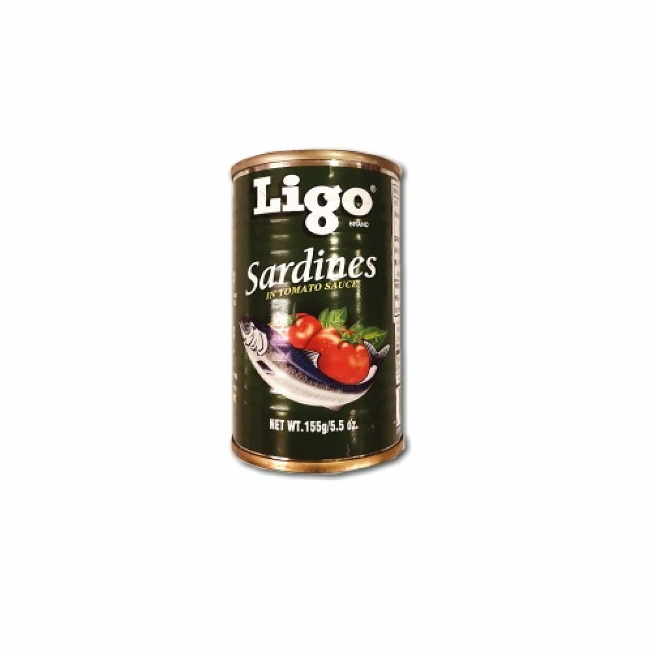 Ligo sardines in tomato sauce 155gm RHF
