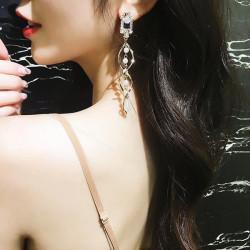 New Crystal Pearl Tassel Earrings  - RKM Shipping Free, Tax Free