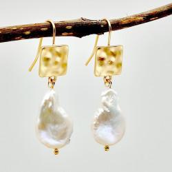 Natural Pearl Jewelry, Gemstone Jewelry, Pearl Pendant Drop Pearl Earing,  Hook Earing Ornaments - RKM Shipping Free, Tax Free