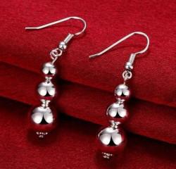 Creative Fashion Jewelry, Sterling Silver Beads Tassel Earrings - RKM Shipping Free, Tax Free